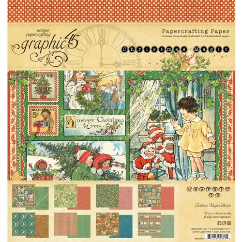 Graphic 45 Christmas Magic 12 x 12 Collection Pack