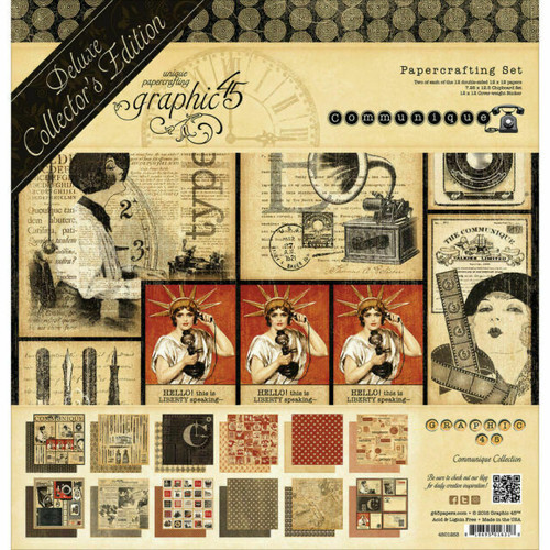 "Graphic 45 Communique Deluxe Collector's Edition Papercrafting Pack 12"" x 12"""