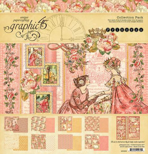 Graphic 45 Princess 12 x 12 Collection Pack