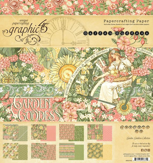 Graphic 45 Garden Goddess 12 x 12 Collection Pack