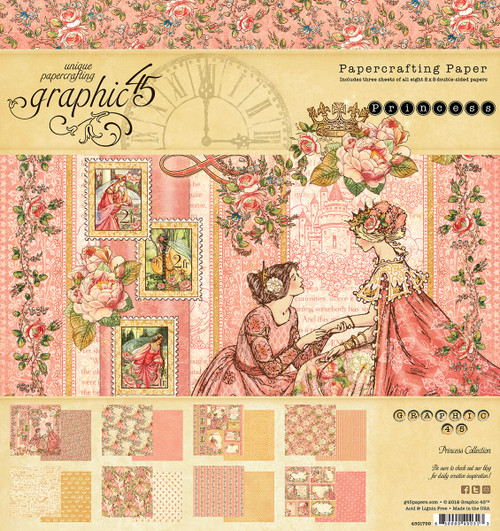 Graphic 45 8 x 8 Princess Collection Paper Pad
