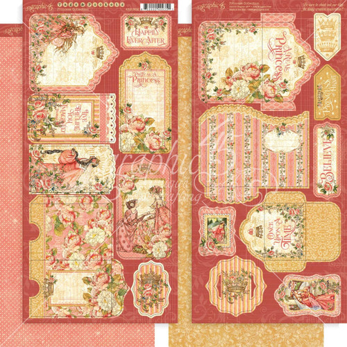 Graphic 45 Princess Collection Tags And Pockets Cardstock Diecuts