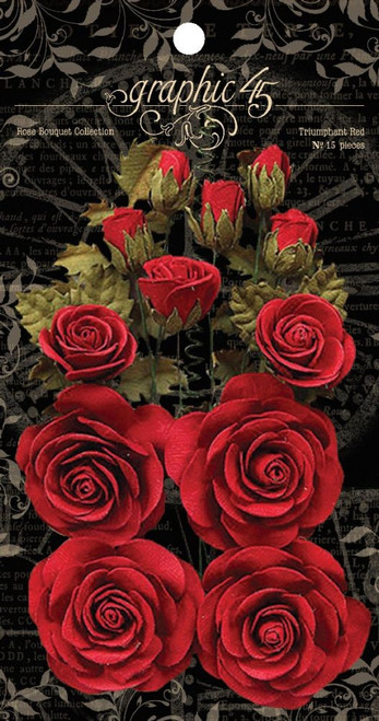 Graphic 45 Triumphant Red Rose Bouquet Collection