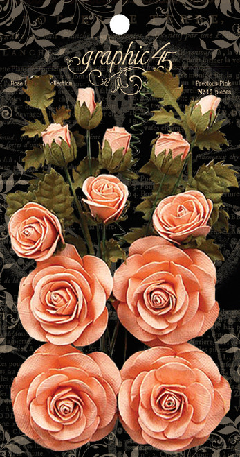Graphic 45 Precious Pink Rose Bouquet Collection