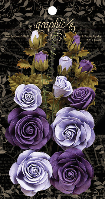 Graphic 45 French Lilac & Purple Royalty Rose Bouquet Collection