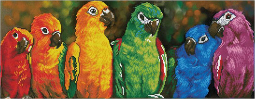 Diamond Dotz Rainbow Parrots