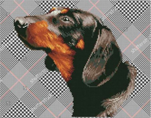 Diamond Dotz Noble Dachsie