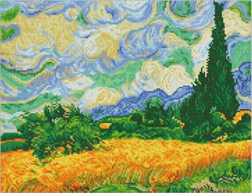Diamond Dotz Wheat Fields (Van Gogh)