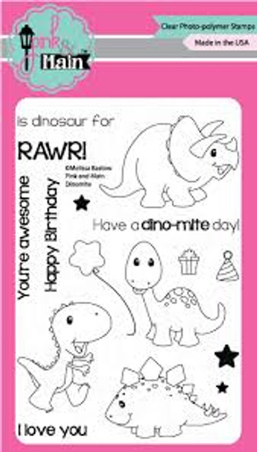 Pink & Main Dinomite Clear Stamp Set
