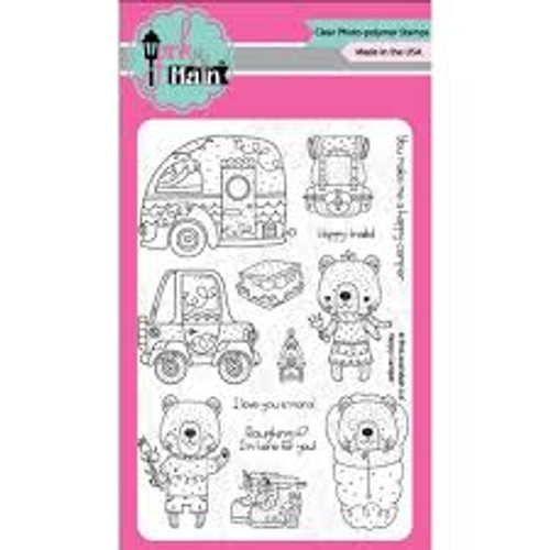 Pink & Main Happy Camper Clear Stamp Set