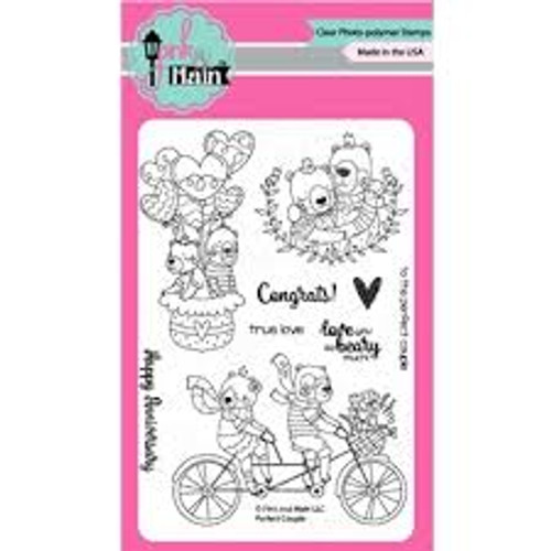 Pink & Main Perfect Couple Clear Stamp Set