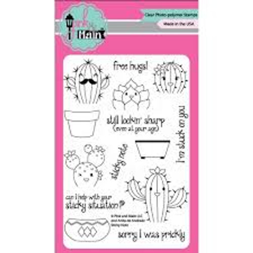 Pink & Main Sticky Note Clear Stamp Set