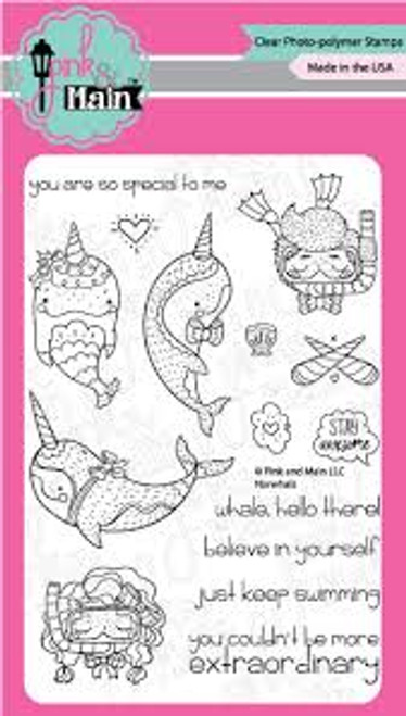 Pink & Main Narwhals Clear Stamp Set