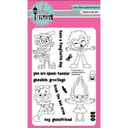 Pink & Main Spooktacular Clear Stamp Set
