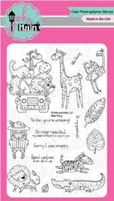 Pink & Main Wild Thing Clear Stamp Set