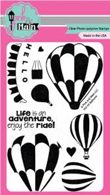 Pink & Main Hot Air Balloons Clear Stamp Set