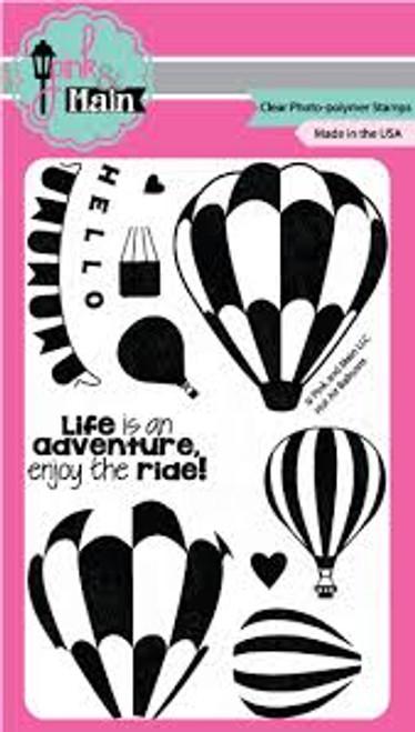 Pink & Main Hot Air Balloons Clear Stamp Set