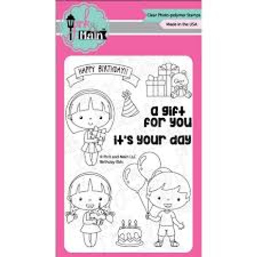 Pink & Main Birthday Kids Clear Stamp Set