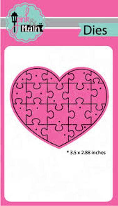 Pink & Main Heart Puzzle Die Set