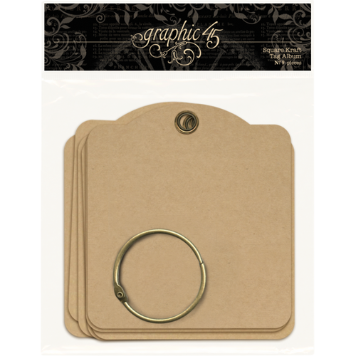 Graphic 45 Square Kraft Tags