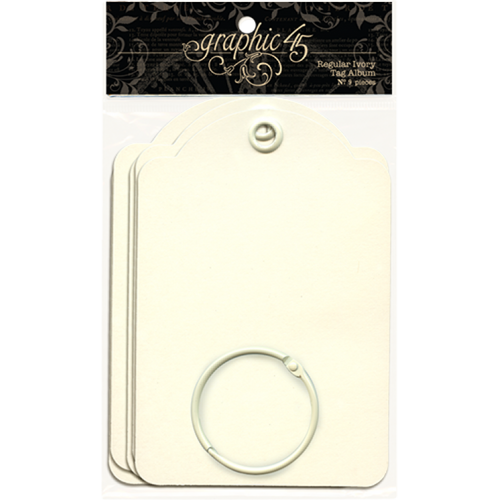 Graphic 45 Regular Ivory Tags