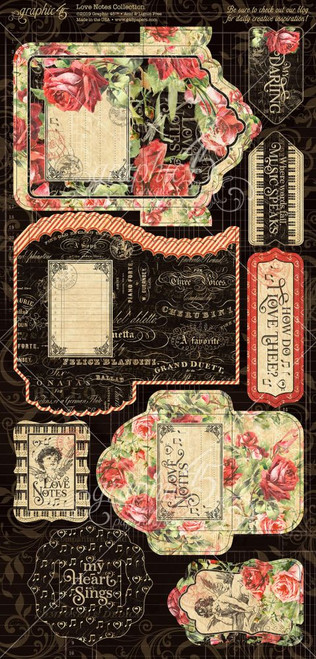 Graphic 45 Love Notes Tags and Pockets