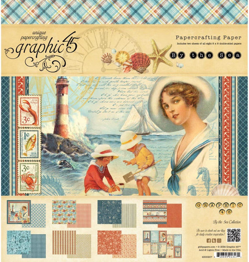 """Graphic 45 By the Sea Deluxe Collectors Edition 12"""" x 12"""""""