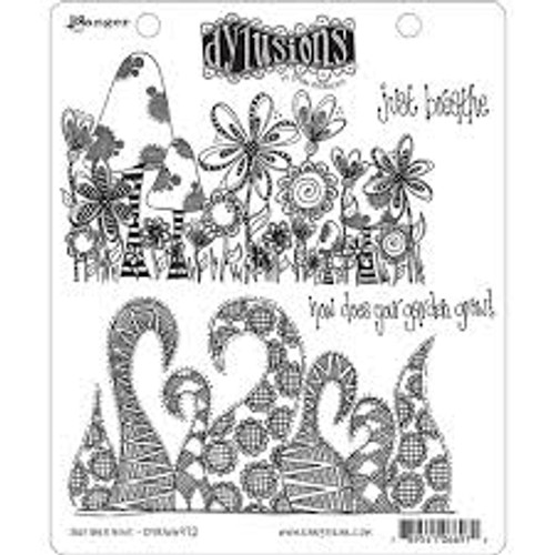Ranger Dylusions Just Breathe Cling Stamp