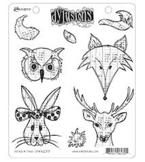 Ranger Dylusions Heads N Tails Cling Stamp