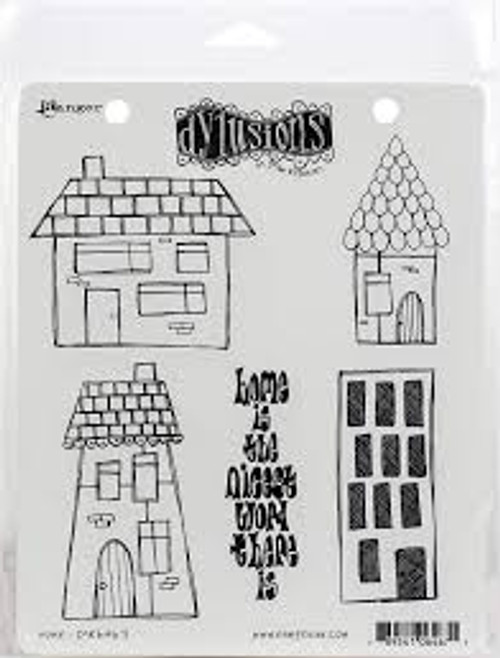 Ranger Dylusions Home Cling Stamp