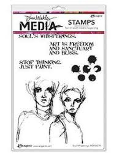 Dina Wakley Soul Whisperings Stamps
