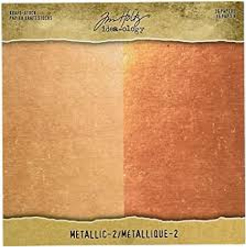 Tim Holtz Ideaology Kraft Stock Metallic Rose Gold/Copper