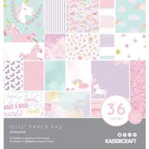 Kaisercraft 12 x 12 Paper Pad Unicorns