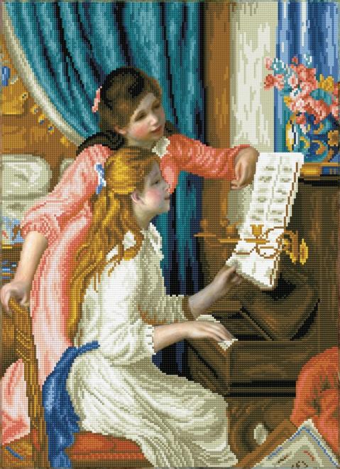 Diamond Dotz Girl at the Piano (Renoir)