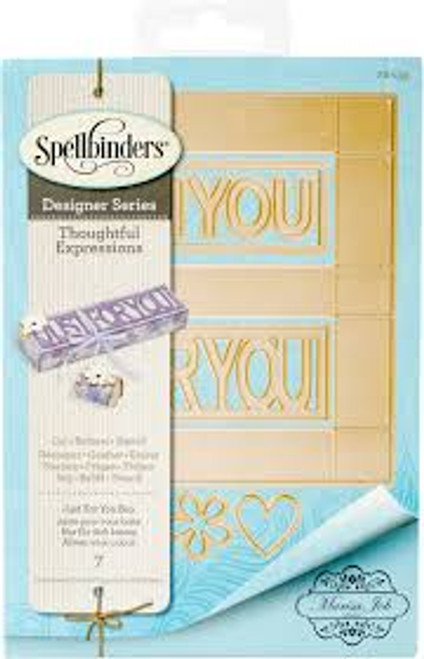 Spellbinders Thoughtful Expressions Just For You Box Die Set