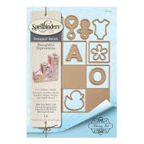 Spellbinders Designer Series Thoughtful Expressions Baby Step Block Card Die Set