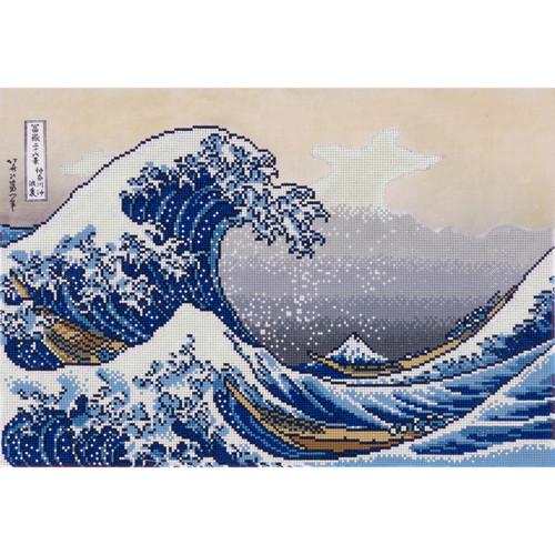 Diamond Dotz A Big Wave off Kanagawa (Hokusai)