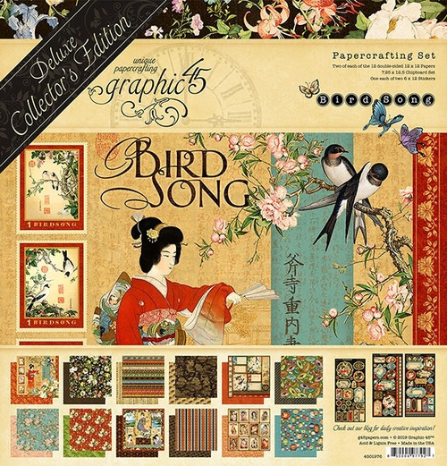 Graphic 45 Bird Song 12 x 12 Deluxe Collector's Edition