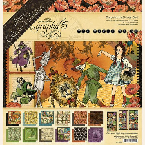 Graphic 45 Magic of Oz 12 x 12 Deluxe Collector's Edition