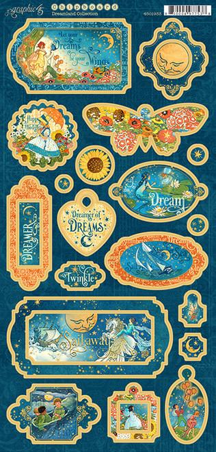 Graphic 45 Dreamland Chipboard