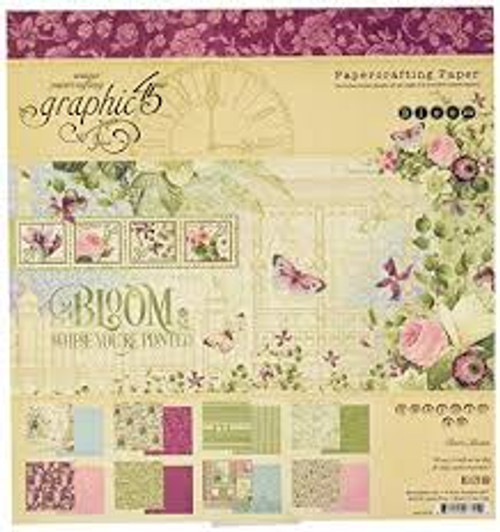 Graphic 45 Bloom Collection Pack 8 x 8