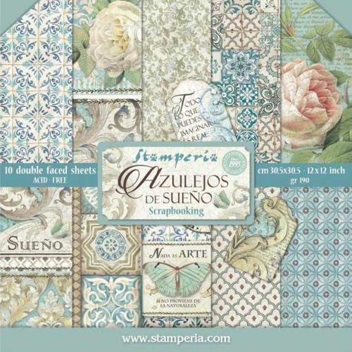 "Stamperia Azulejos de Sueno Paper Pack 12"" x 12"""
