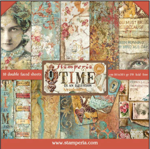 Stamperia Time Is An Illusion Paper Pack 12 x 12