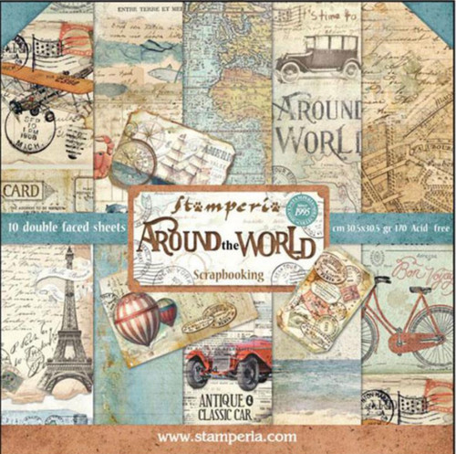 "Stamperia Around the World Paper Pack 12"" x 12"""