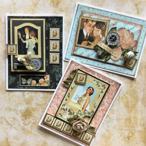 Graphic 45 January 2020  Le Romantique Monthly Card Kit Volume 1