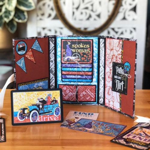 Graphic 45 December 2019 Life's a Journey Monthly Kit