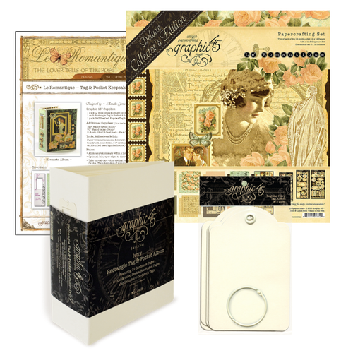 Graphic 45 January 2020  Le Romantique Album and Gatefold Card Monthly Kit