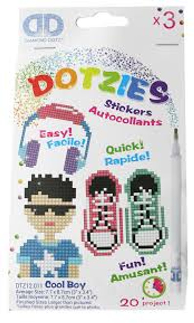 Diamond Dotz Dotzies Cool Boy Stickers