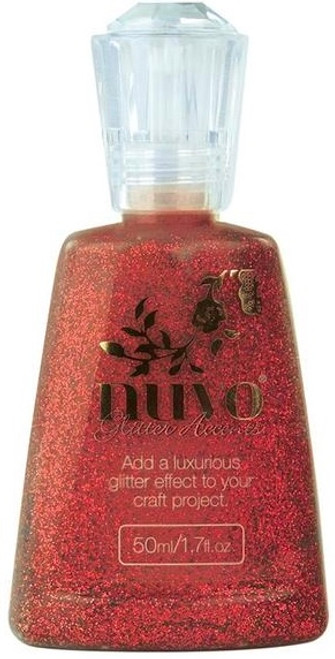 Nuvo Glitter Accents Winter Cranberry