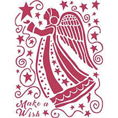 Stamperia Stencil D  Make a Wish Angel